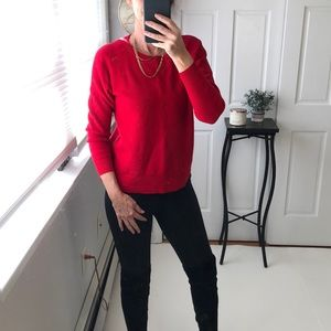 AMERICAN EAGLE basic red sweater EUC size small